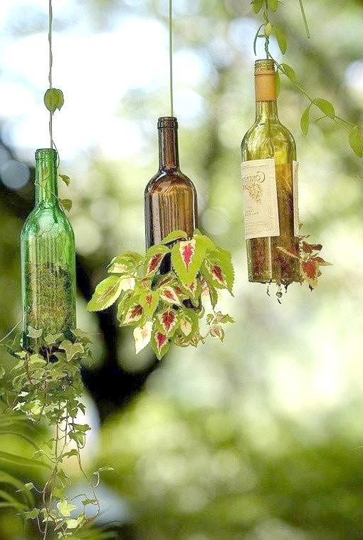 10 ідей використання пляшок в саду!