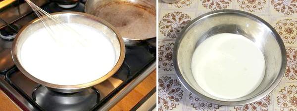 нагріваємо кефір із содою