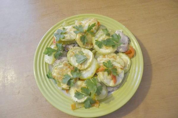 блюдо з кабачками