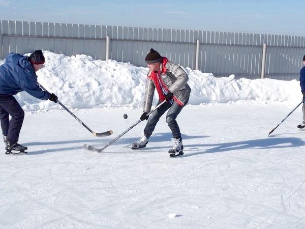 Напружений хокейний матч