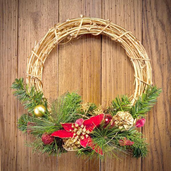 Різдвяний вінок зовсім не обов'язково повинен бути хвойним