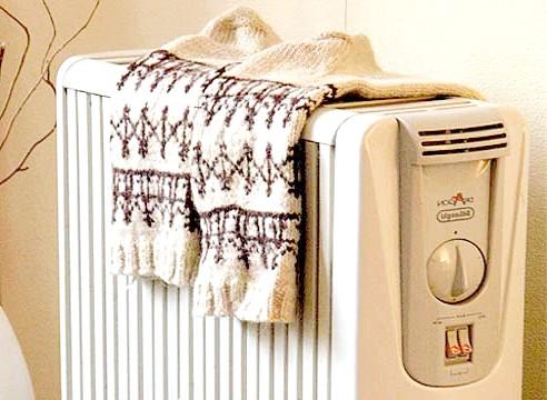 Шкарпетки на радіаторі