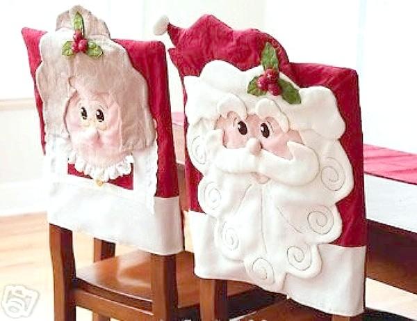 Декоративні новорічні чохли на стільці