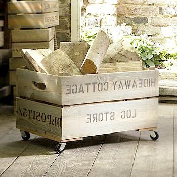 Ящик для дров. Фото з сайту http://notonthehighstreet.com/