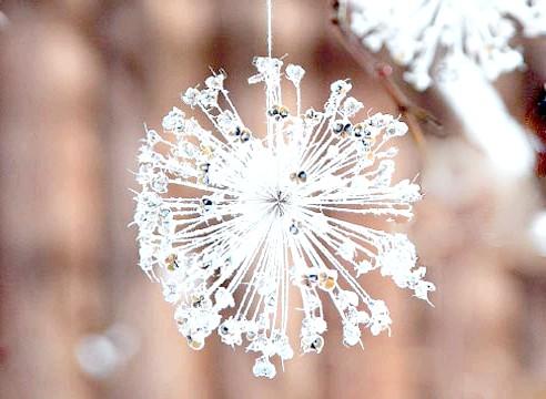 Сніжинка зі штучного снігу