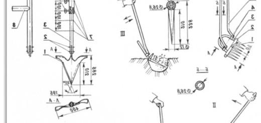 Схема розпушувача-лункокопателя, eurosamodelki.ru