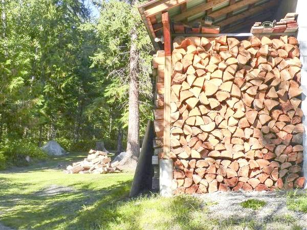 Можна зберігати дрова і під навісом