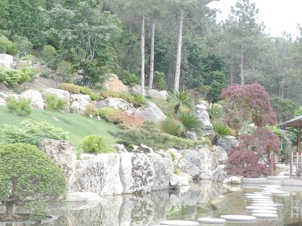 Японський сад в стилі гірського саду