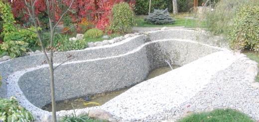 Фотографія ставка, викладеного дрібної плиткою, водоемчік.рф