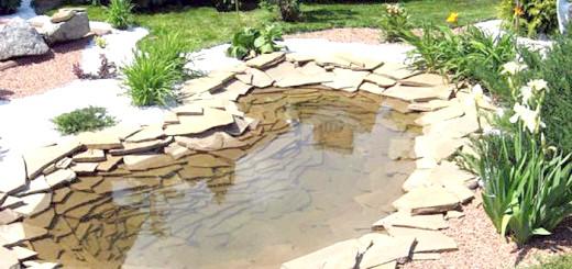 Фото ставка обробленого натуральним каменем, svoi-dom-nsk.ru