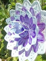 Скляні квіти для саду