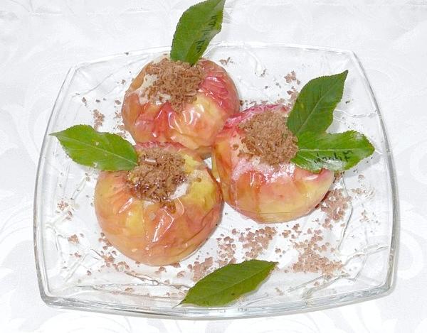Печені яблука з медом про горіхами