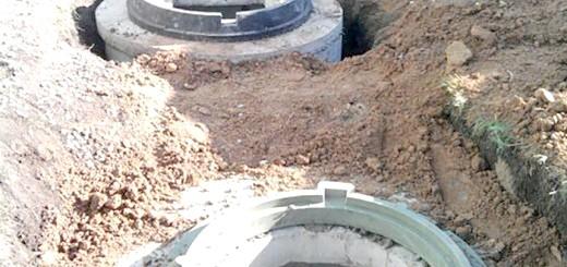 Фото встановлених кілець для каналізації