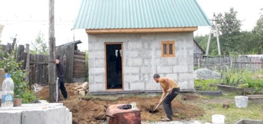 Процес установки каналізації для лазні, a2ural.ru
