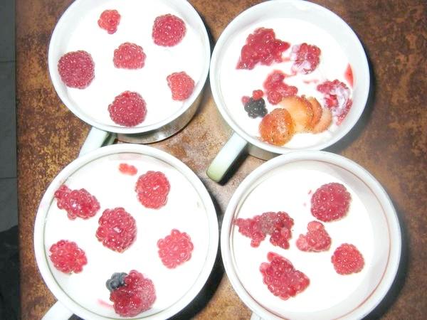 Сметанник з осінніми ягодами.