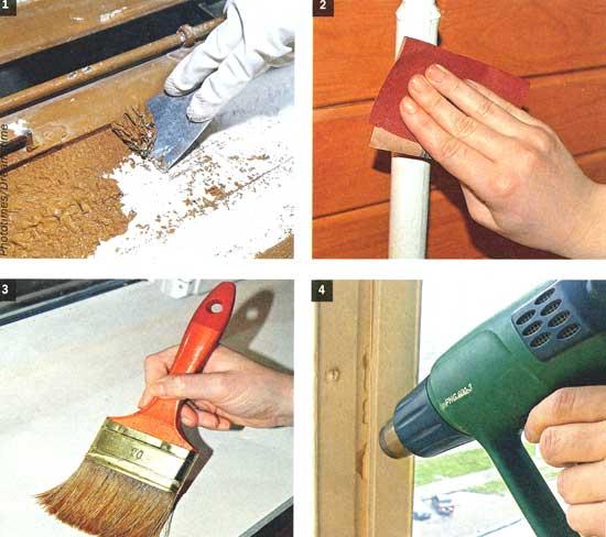 Фото - Видалити фарбу зі стелі і стін при ремонті