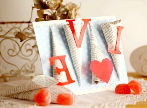 Фото - Валентинки своїми руками: листівка, свічник, ажурна підвіска, пивна валентинка