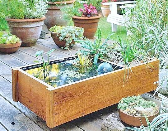 Мініатюрний водойма для тераси