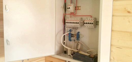 На фото установка електрощитка в лазні, googleusercontent.com