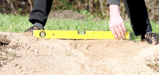 Фотографія процесу коригування меж ставка, heissner.com.ua